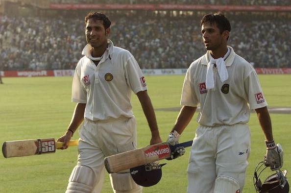 Laxman took to Twitter to pay tribute to Rahul Dravid