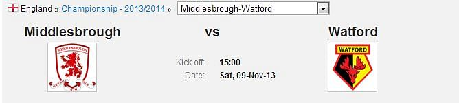 Middlesbrough-Watford
