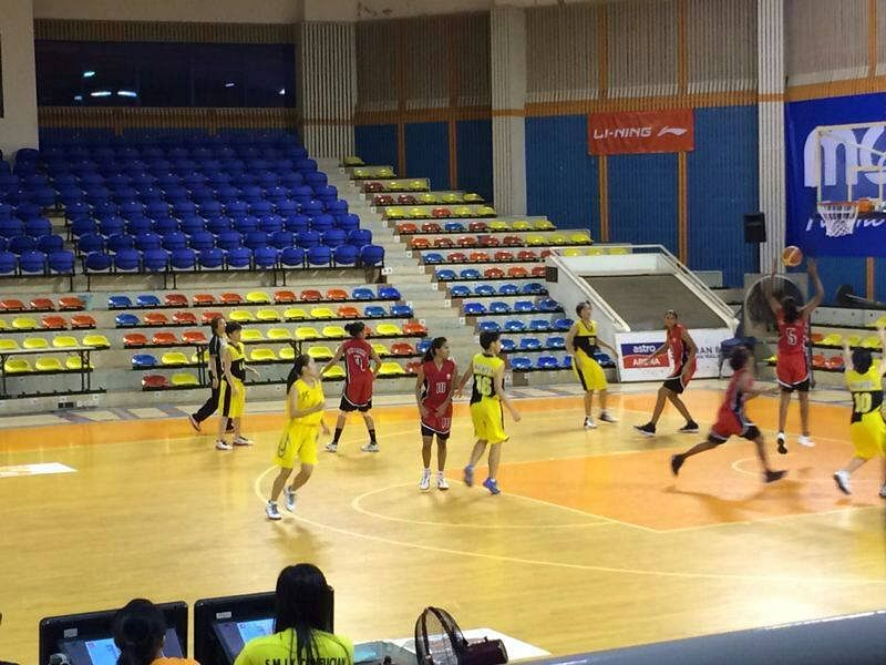 Srilanka U16 team playing their practice match in Malaysia
