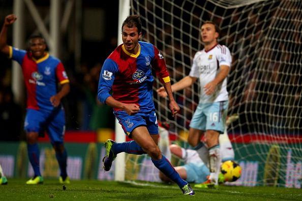 Marouane Chamakh of Crystal Palace celebrates after scoring
