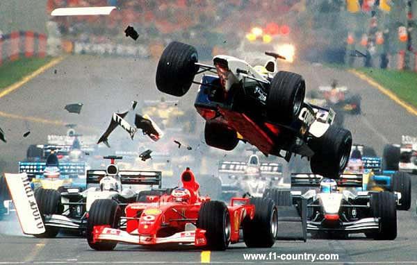 F1 Michael Schumacher Crash Compilation
