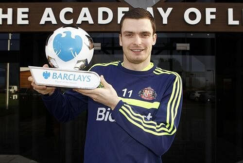 Adam Johnson wins the Player of the Month