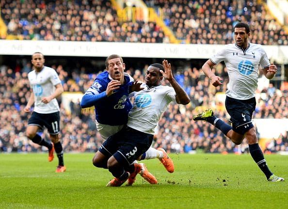 Ross Barkley in action against Spurs