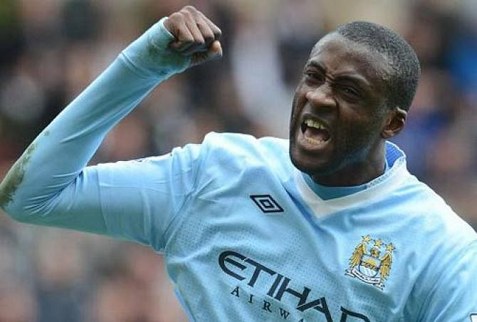 Yaya Toure is the highest scoring midfielder in the league