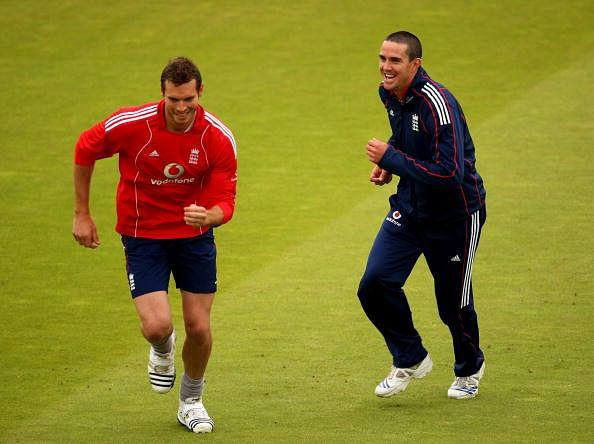 Tremlett with Pietersen during the good days