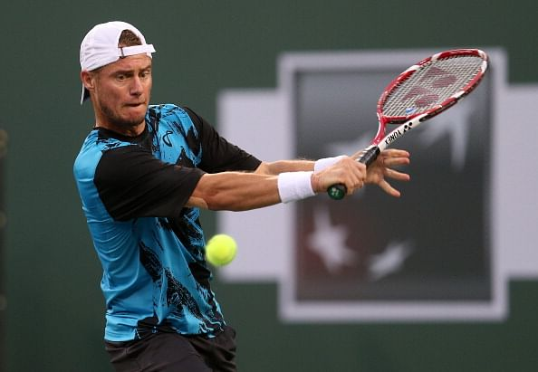 Lleyton Hewitt in action at the Indian Wells Masters 2014