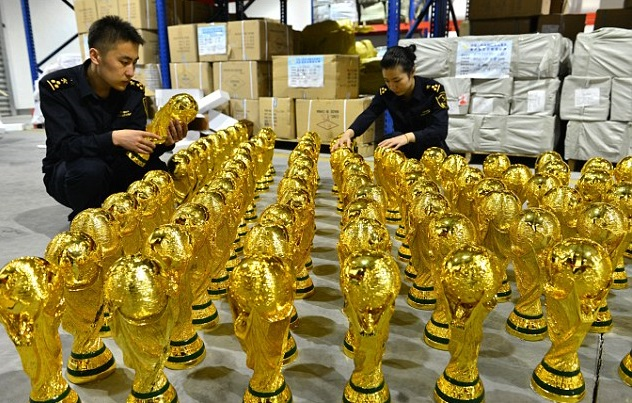 1020 Fake Fifa World Cup Trophies Seized By Customs Officials In China