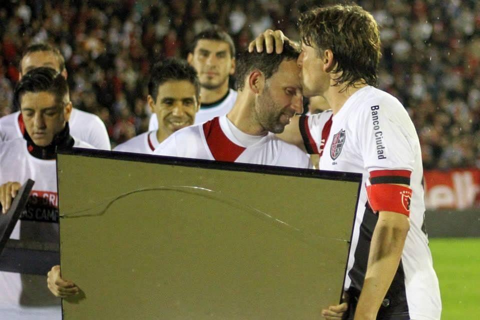 Heinze with Lucas Bernardi