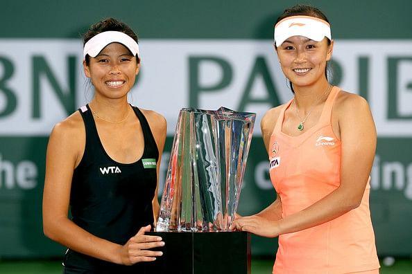 Hsieh Su-wei (left) and Peng Shuai