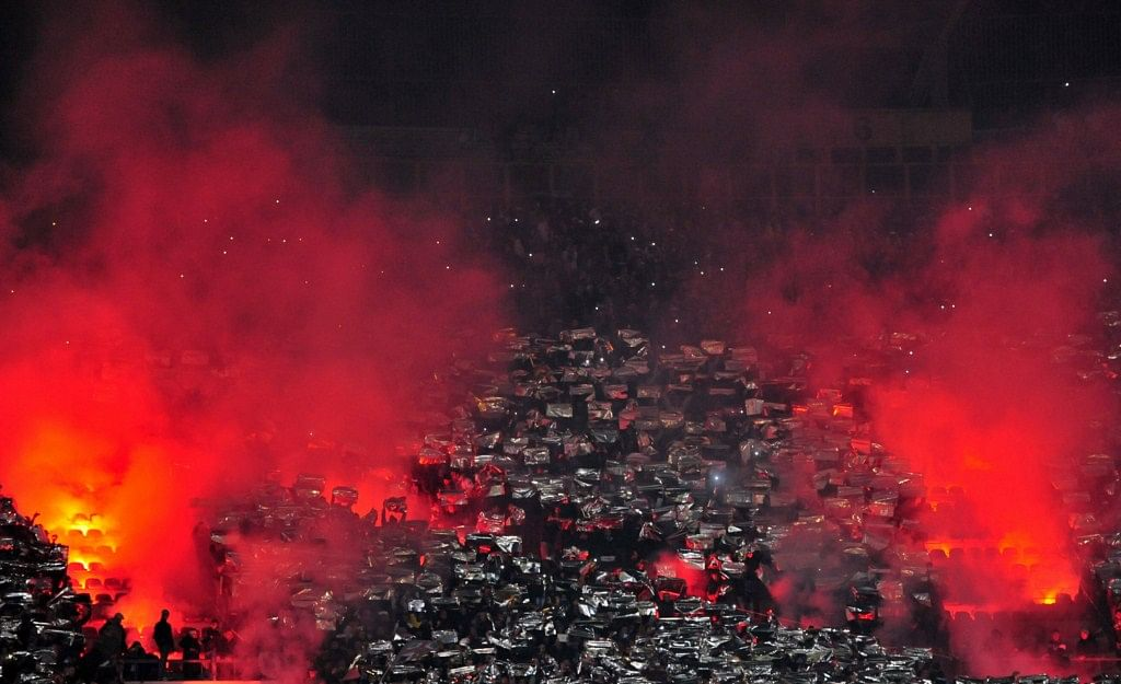 Ultras Napoli against Manchester City