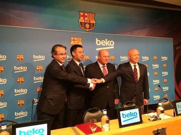 FC Barcelona and Beko sign global sponsorship agreement.