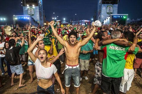 FIFA fan fest in Natal, Brazil