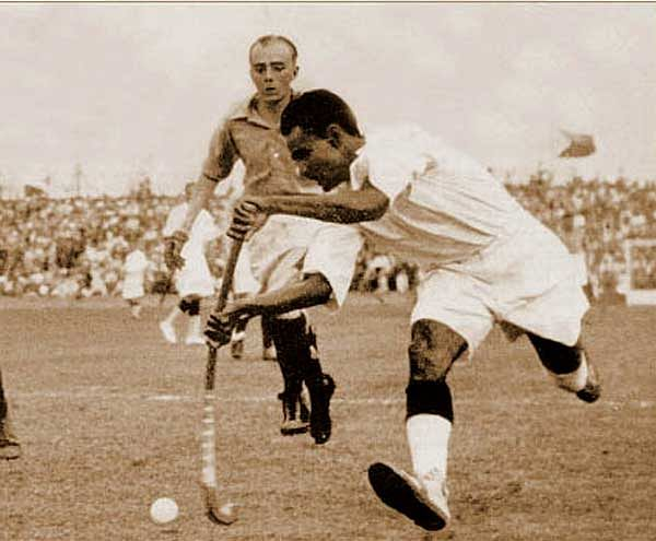dhyan chand in action