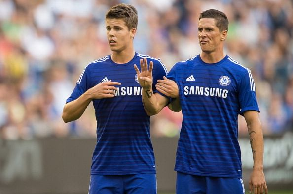 Fernando Torres and Marco van Ginkel
