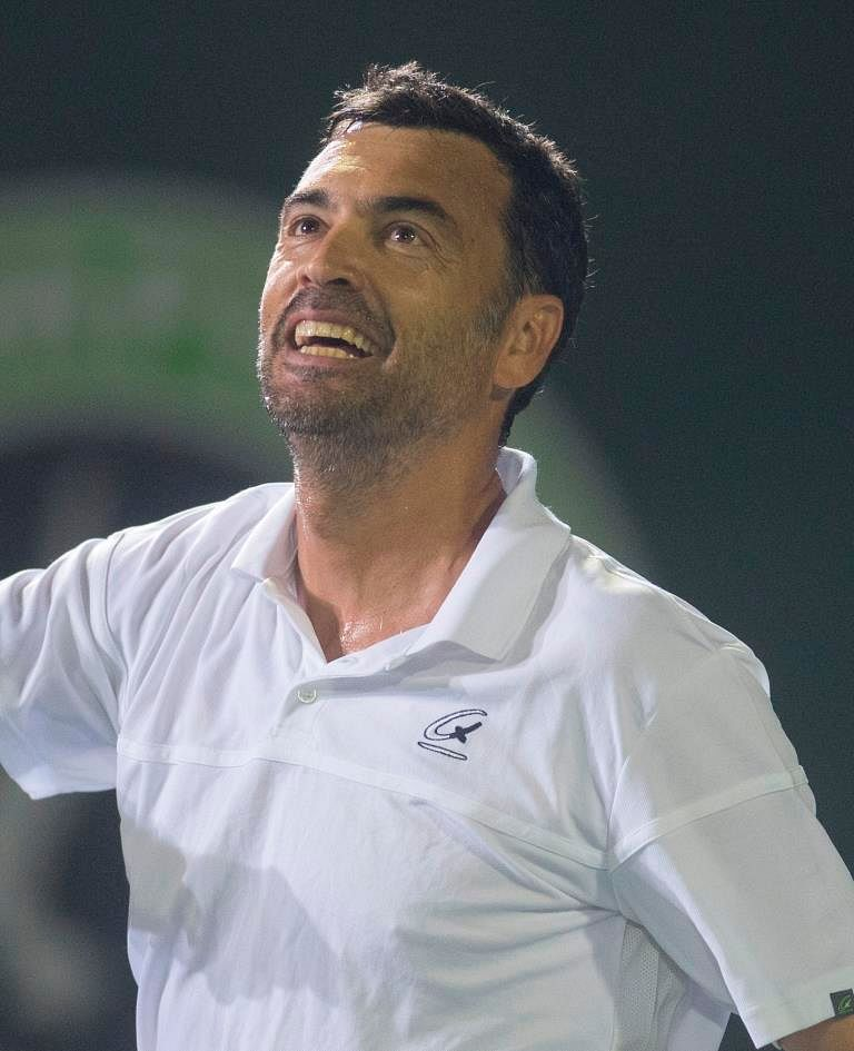 Ironkill Mumbai Tennis Masters' Sergi Bruguera gave his side a flying start, beating Wave Punjab Marshalls' Leander Paes in the legends match.