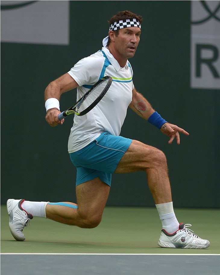 Pat Cash enthralled the Pune crowd with his serve and volley game