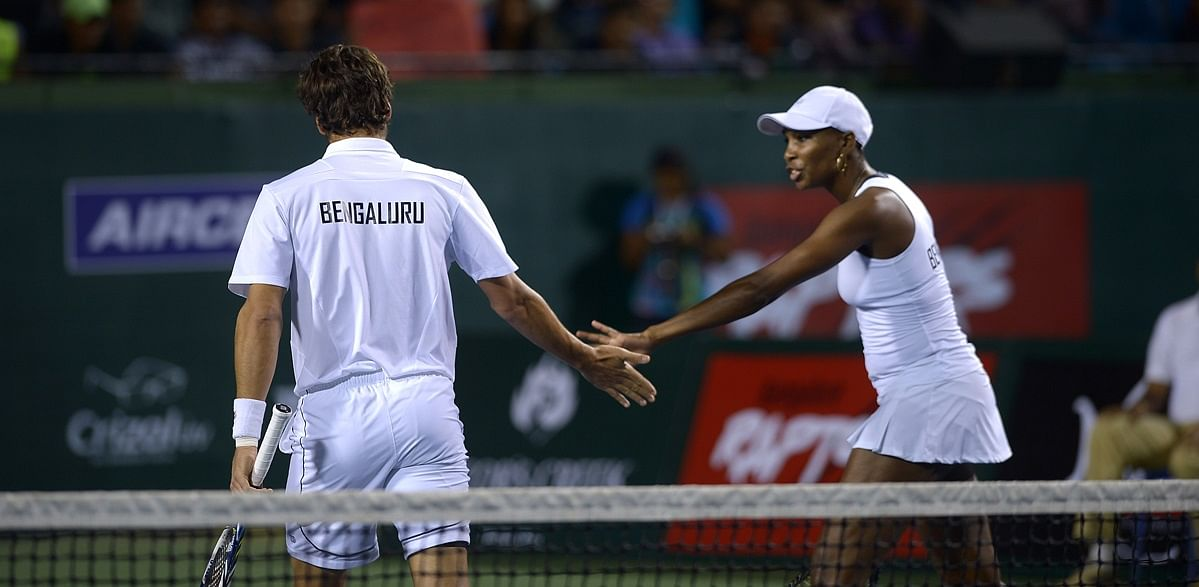 Feliciano Lopez and Venus Williams gelled well in the mixed doubles encounter