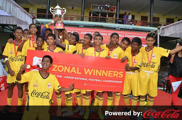 Bengal made it to the Coca Cola U-15 Football Cup final