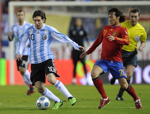 Lionel Messi David Silva