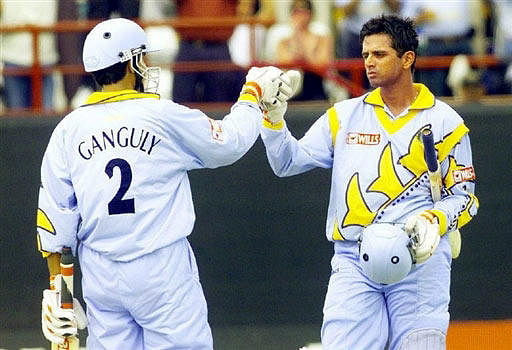 Sourav Ganguly and Rahul Dravid set Taunton alight in the 1999 World Cup