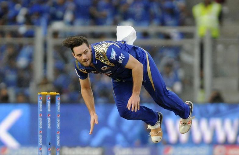 Mitchell McClenaghan in MI colors. Pic Credits: BCCI.
