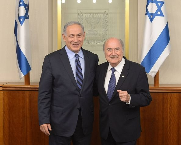 Sepp Blatter and Benjamin Netanyahu