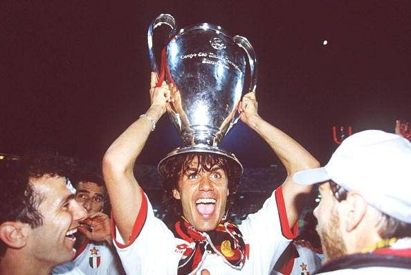 Maldini Champiosn League trophy 2007 AC Milan Midnight in Athens
