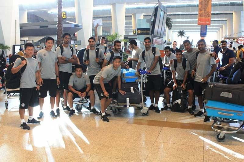 The Indian team leaving for Guam