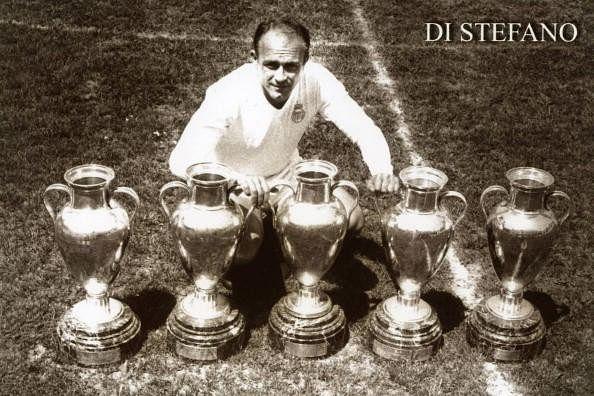Alfredo Di Stefano won five consecutive European Cups from 1955/56 to 1959/60