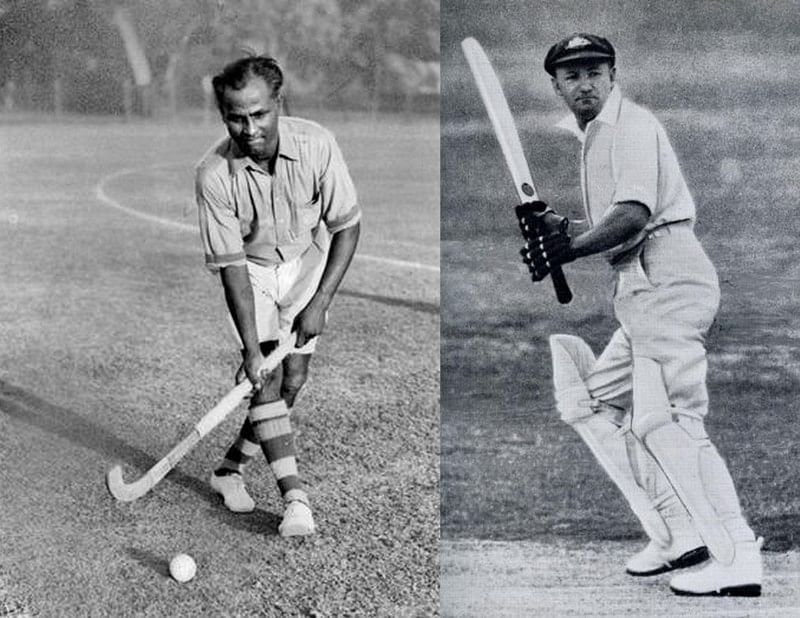 Dhyan Chand and Sir Don Bradman