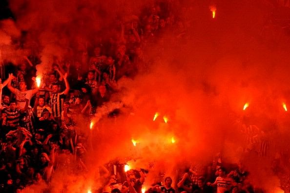 Fenerbahce fans flares rivalry