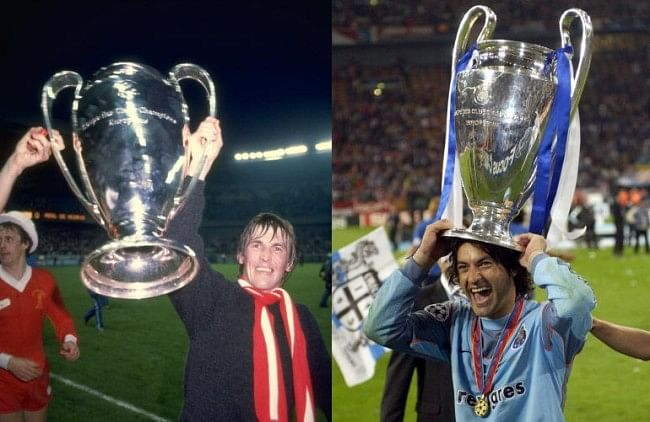 Kenny Dalglish (L) and Vitor Baia have won 31 trophies each