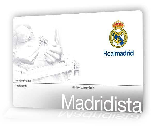 Real Madrid Socio membership card