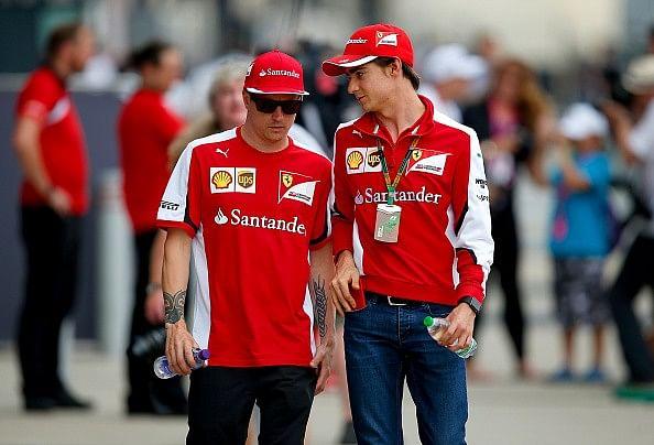 Esteban Gutierrez Kimi Raikkonen Ferrari