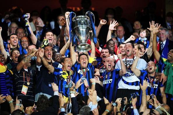Internazionale celebrate their title win in 2010