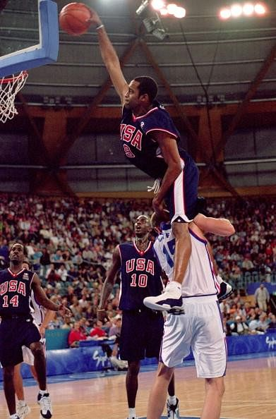 Vince Carter leapt over Frederic Weis to dunk during the 2000 Olympics