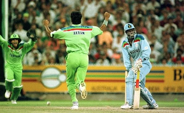 Wasim Akram�¢����s in-swinger clean bowled Chris Lewis in the 1992 World Cup final
