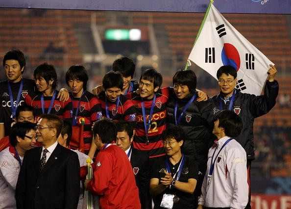 Pohang Steelers from Korea celebrate their 2009 AFC Champions League win