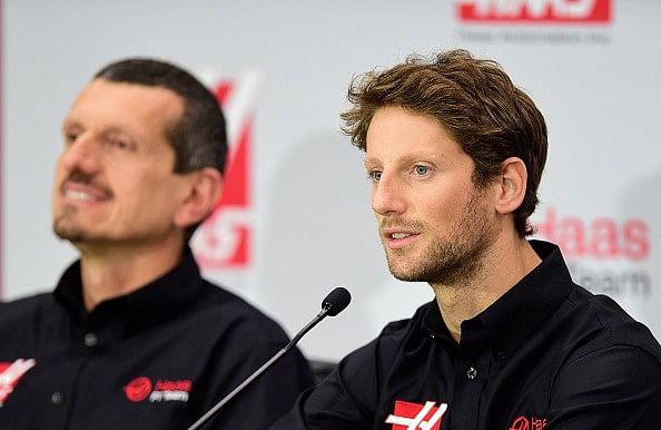 Romain Grosjean Haas F1 2015 Guenther Steiner