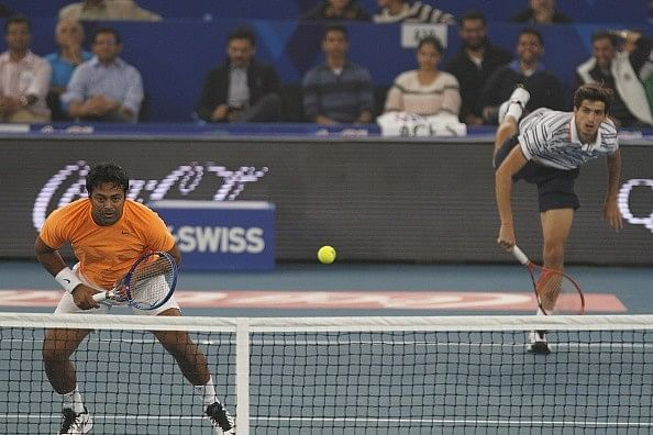 Leander Paes Pierre Hugues Herbert 2015 IPTL japan warriors