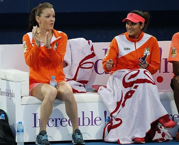 Radwanska Mirza Indian Aces IPTL 2015