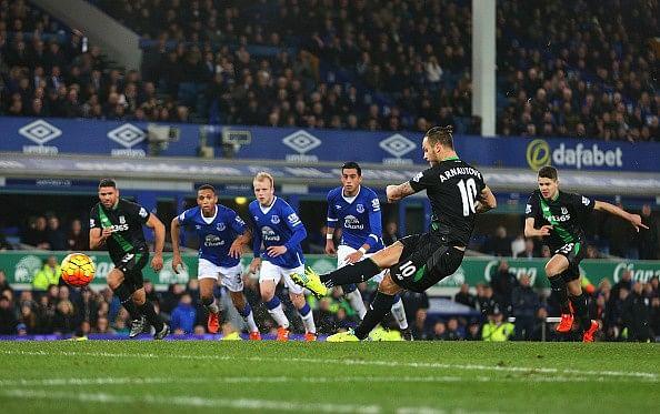 Arnautovic Penalty Stoke Everton