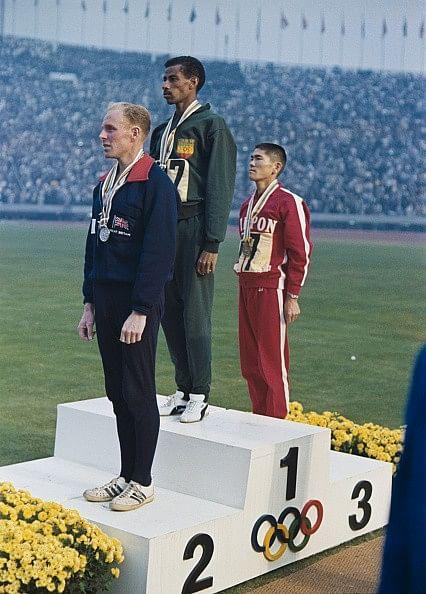 Abebe Bikila Basil Heatley Kokichi Tsuburaya Tokyo 1964 Olympics