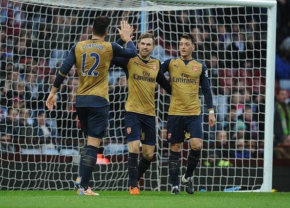 Arsenal 2-0 Aston Villa goals