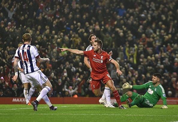 Jordan Henderson goal Liverpool West Brom