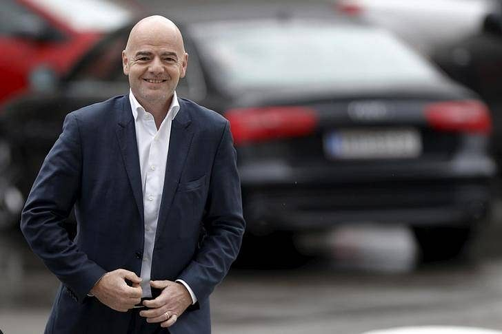 UEFA General Secretary and FIFA presidential candidate Gianni Infantino arrives for the regional meeting of National Football Associations in Belgrade, Serbia February 13, 2016. REUTERS/Marko Djurica