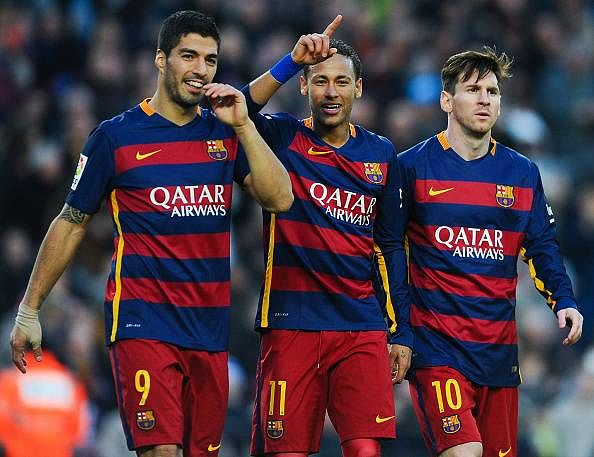 Messi Suarez Neymar Barcelona DNA