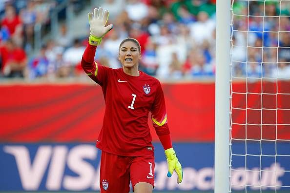 Hope Solo against Sweden in the FIFA Women