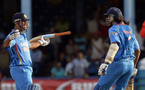 An ecstatic MS Dhoni after his last over heroics propelled India to a famous win