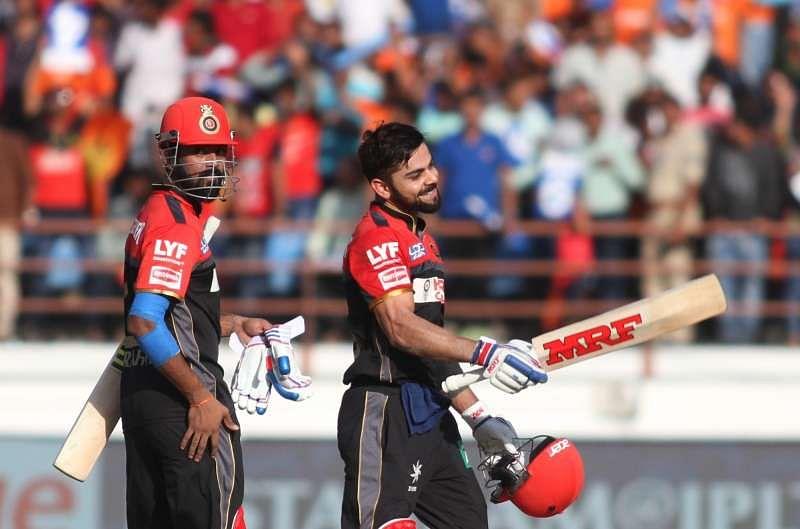 KL Rahul (L) and Virat Kohli